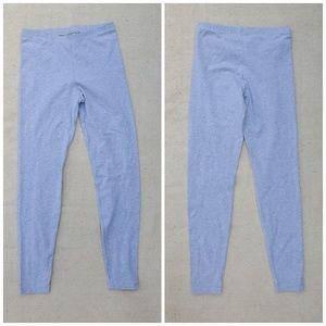 Gray American Apparel Cotton Blend Leggings